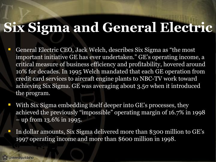 Six Sigma and General Electric