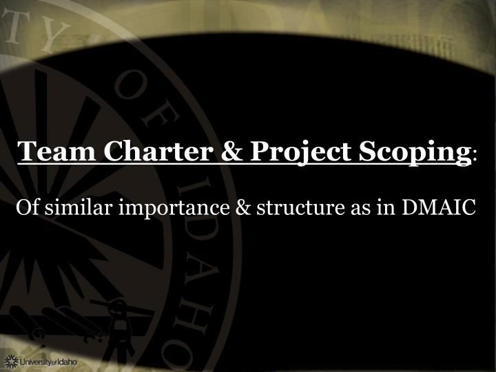 Team Charter & Project Scoping