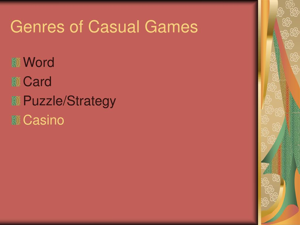 Genres of Casual Games