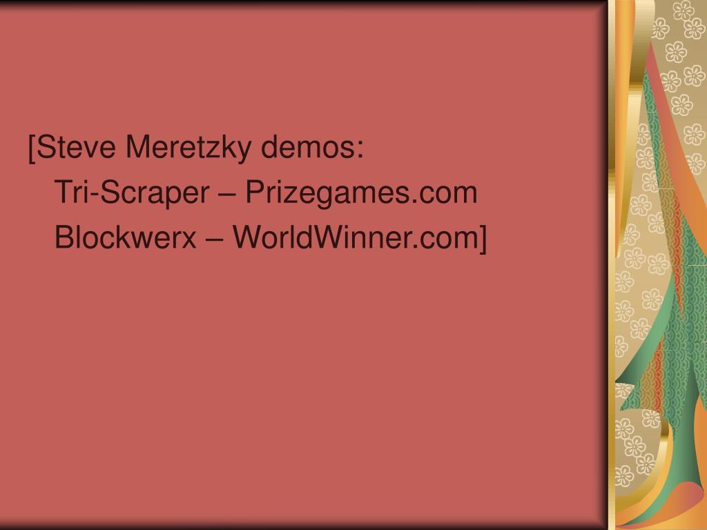 [Steve Meretzky demos: