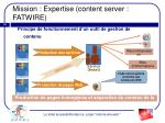 mission expertise content server fatwire