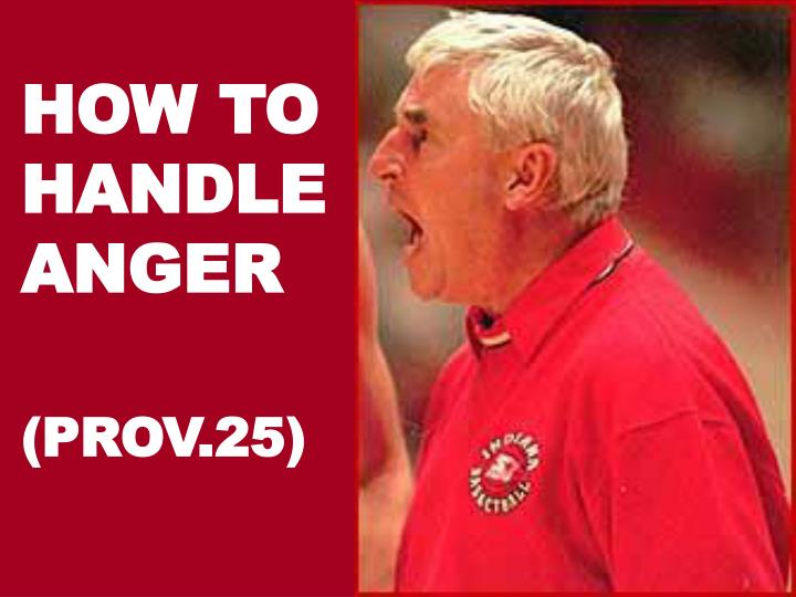 how to handle anger n.