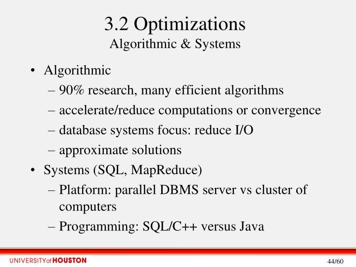 3.2 Optimizations