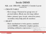 inside dbms sql code create select consider layout cddhw2009 vldb
