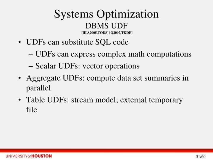 Systems Optimization