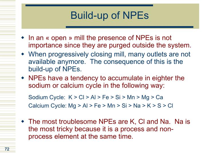 Build-up of NPEs