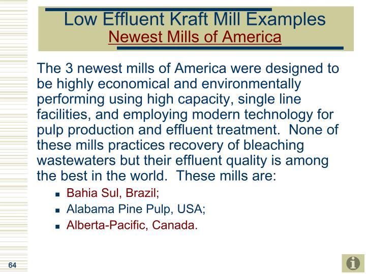 Low Effluent Kraft Mill Examples