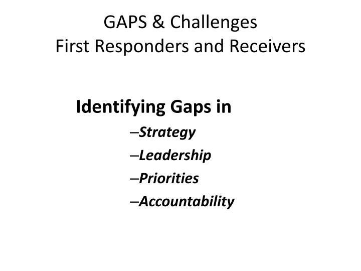 GAPS & Challenges