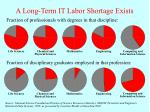 a long term it labor shortage exists