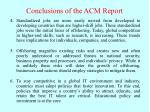 conclusions of the acm report27