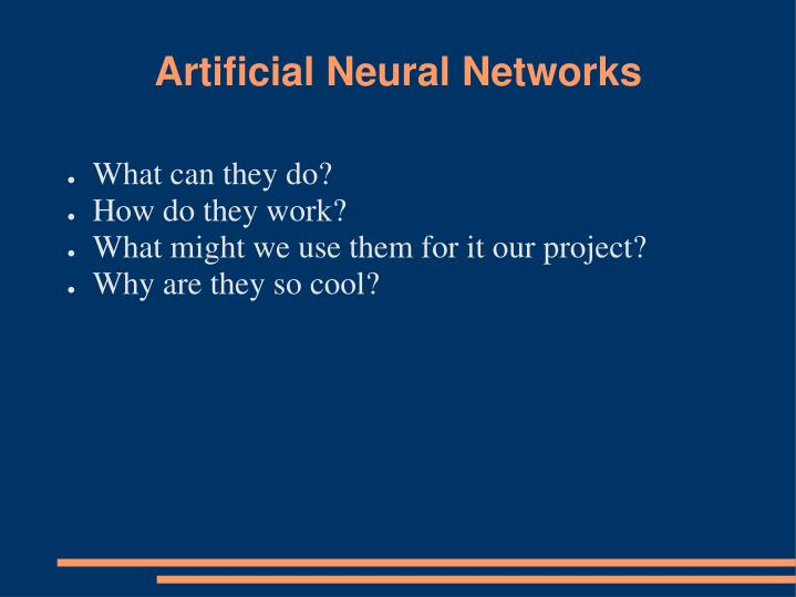 artificial neural networks n.