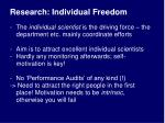 research individual freedom