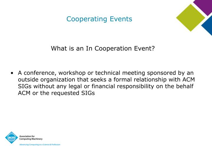Cooperating Events