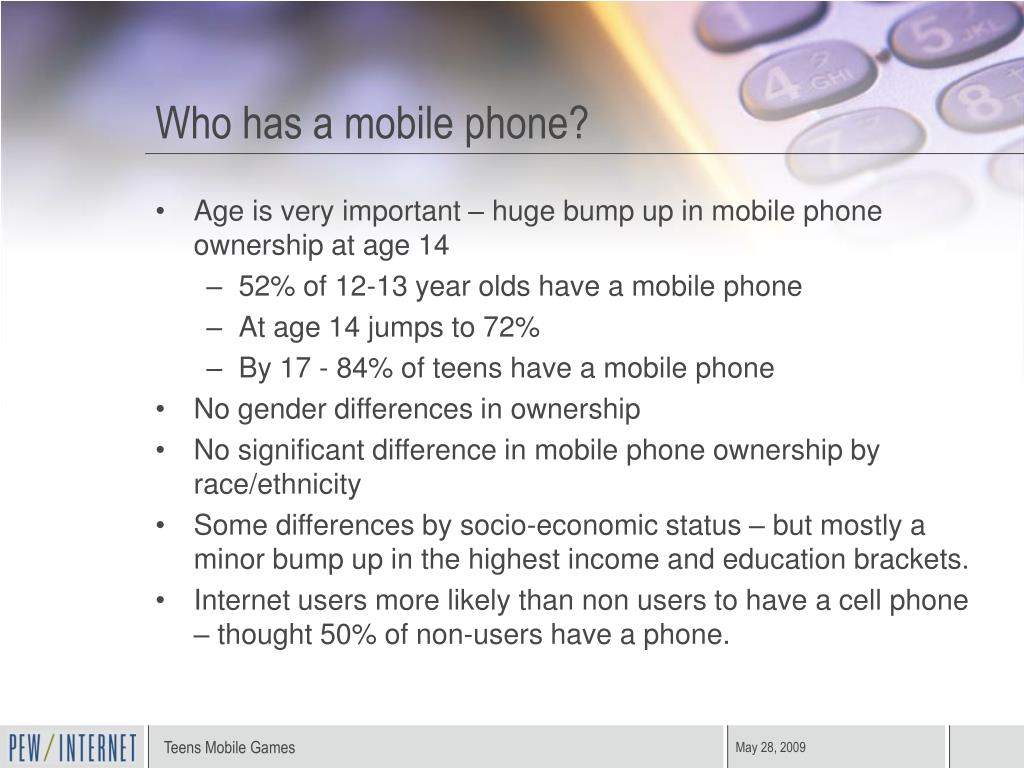Who has a mobile phone?