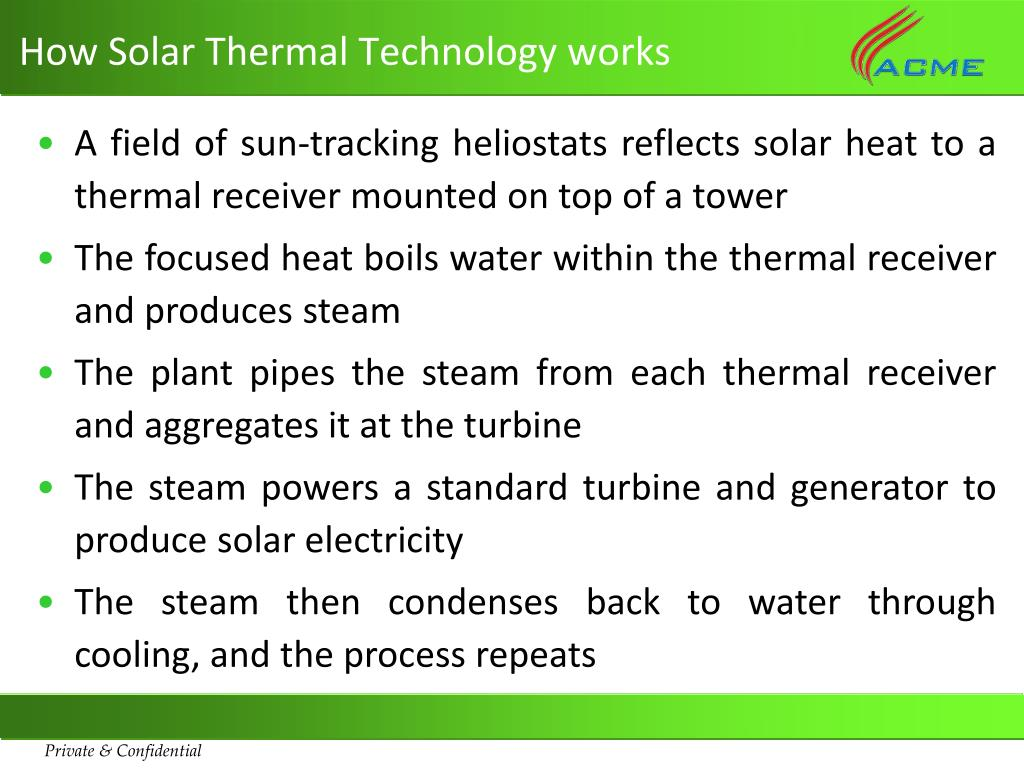 How Solar Thermal Technology works