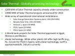 solar thermal globally promising technology