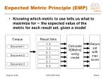 expected metric principle emp