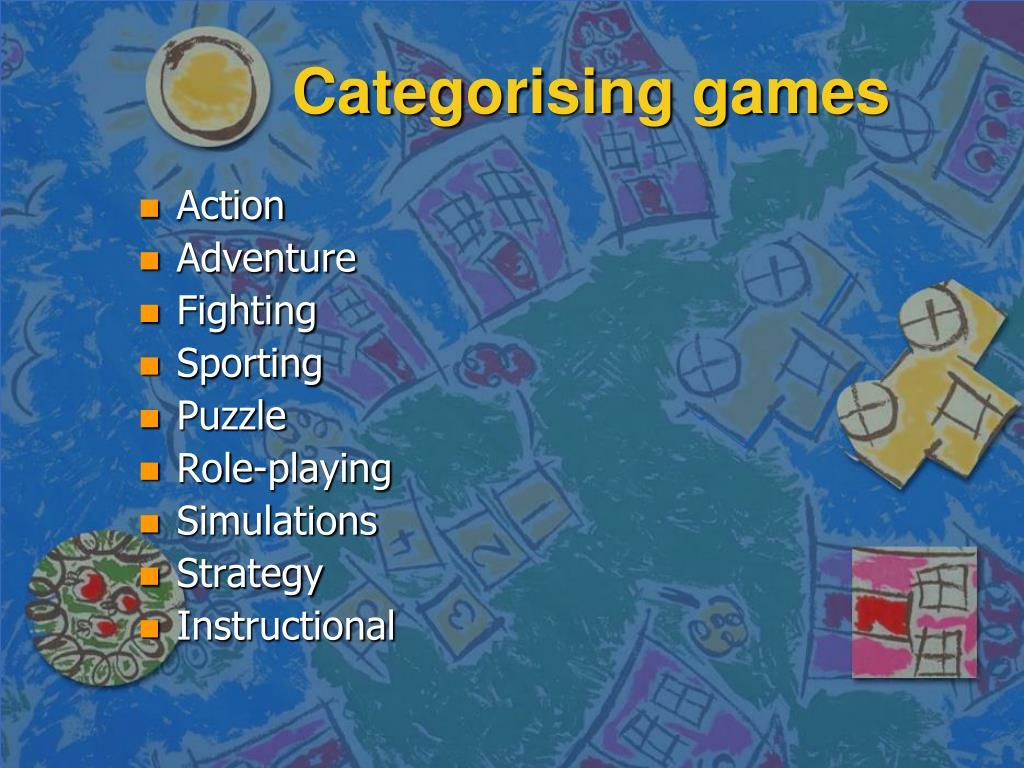Categorising games