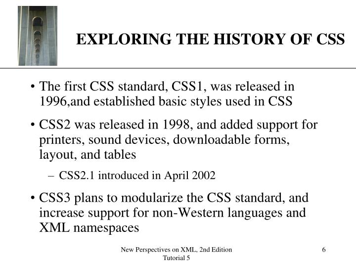 EXPLORING THE HISTORY OF CSS