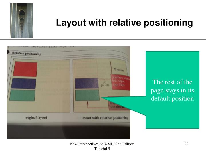 Layout with relative positioning