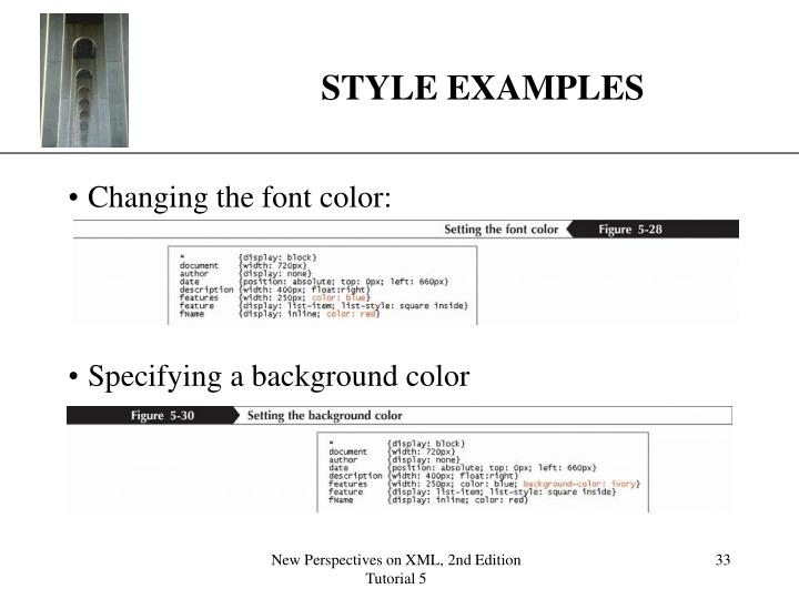 STYLE EXAMPLES