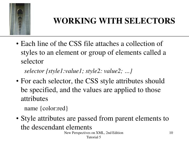 WORKING WITH SELECTORS