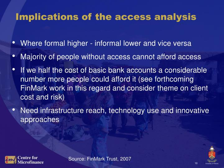 Implications of the access analysis