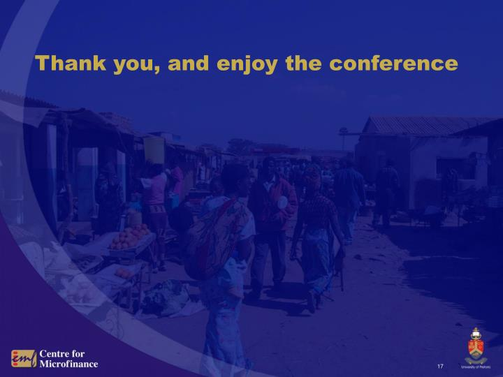 Thank you, and enjoy the conference