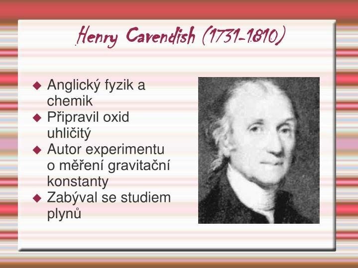Henry cavendish 1731 1810