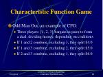 characteristic function game67