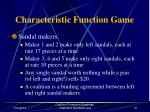 characteristic function game69