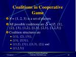 coalitions in cooperative game62