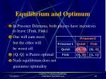 equilibrium and optimum