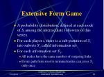 extensive form game53