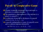 payoff in cooperative game