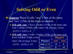 solving odd or even