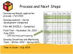 process and next steps