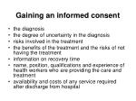 gaining an informed consent