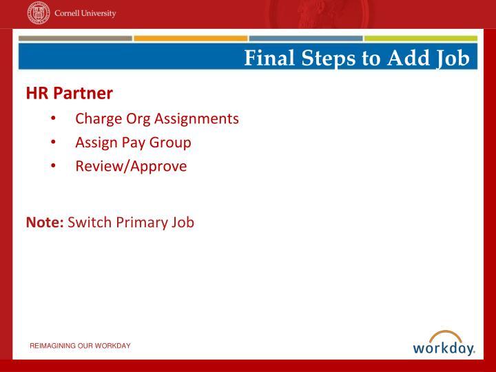 Final Steps to Add Job
