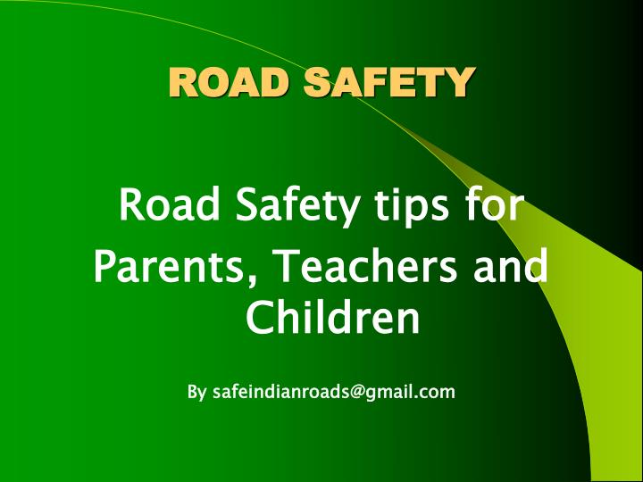 road safety n.