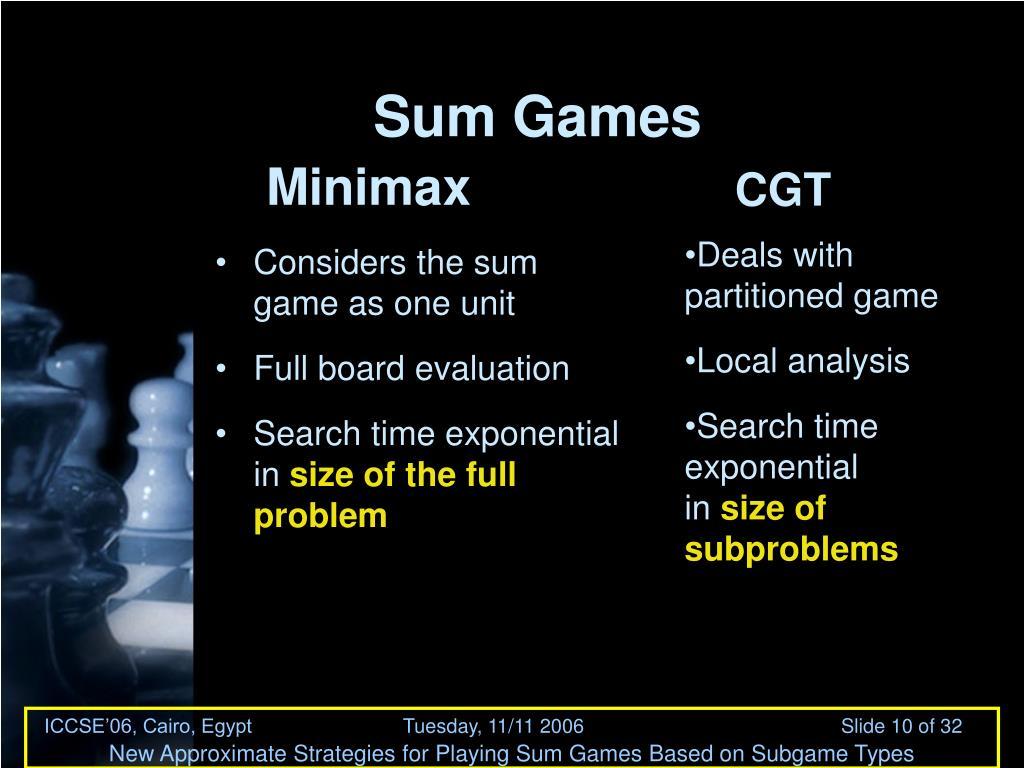 Sum Games