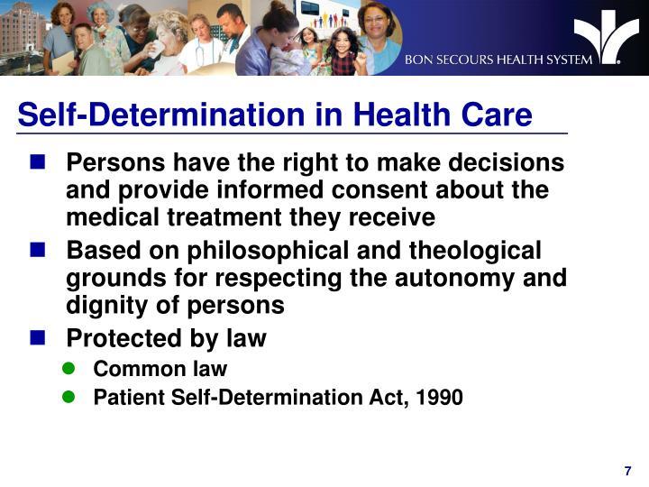 Self-Determination in Health Care