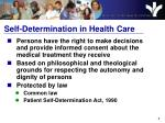 self determination in health care