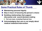 some practical rules of thumb