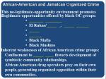 african american and jamaican or ganized crime8