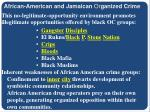 african american and jamaican or ganized crime9