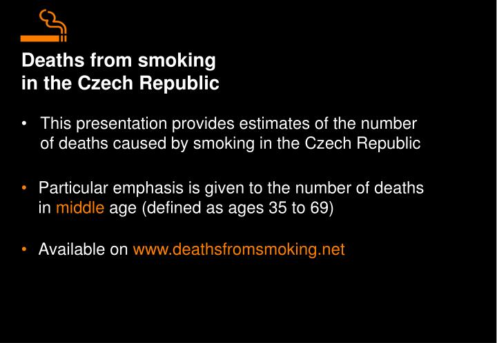 Deaths from smoking in the czech republic
