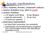 acoustic manifestations