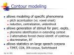 contour modeling