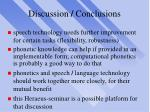 discussion conclusions